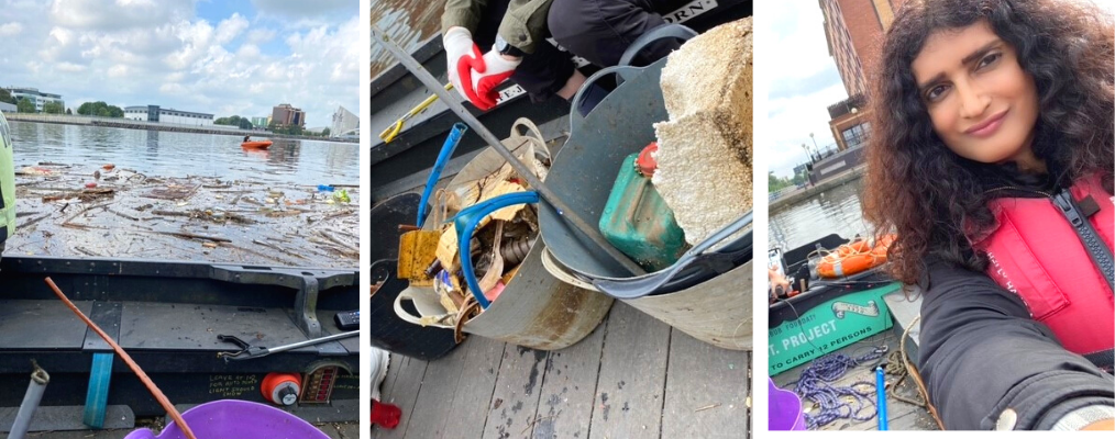 Photos of our volunteer litter fishing
