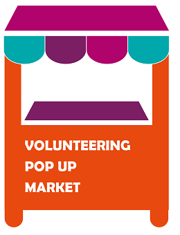 volunteer market stall