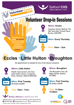 volunteer drop in sessions