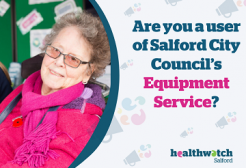 """Image with the question """"Are you a user of Salford City Council's equipment service?"""""""