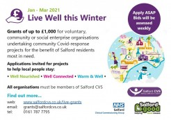 Live Well this Winter Fund - Last chance to apply!
