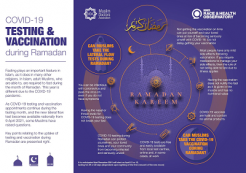 Testing and vaccination during Ramadan