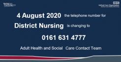 Change to Salford's District Nursing phone number