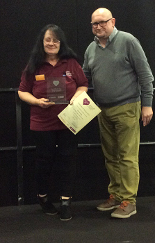 Over 55 Volunteer of the Year award - Dawne Daly