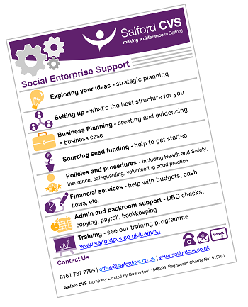 social enterprise support flyer