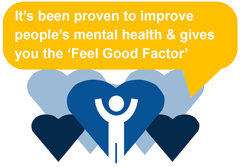 Benefit 4 - It's been proven to impact on people's mental health and give you the 'feel good factor'