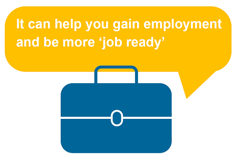 Benefit 7 - It can help you gain employment and be more job ready